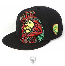 OG Abel OGABEL Men's Crown Lion Snapback Hat Rasta Black King Lion Baseball Cap