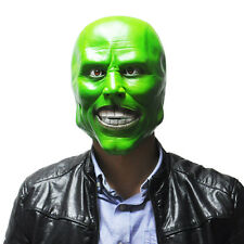 """The Mask"" Green Latex Mask Jim Carrey Movie Halloween Fancy Dress Scary Cosplay"