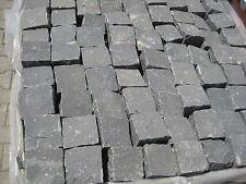 8,5 qm. Basalt - Pflastersteine schwarz 10x10x8cm - Handgeschlagen -