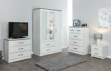 White Ash Effect Large Modern Bedroom Furniture Units & Sets FREE DELIVERY