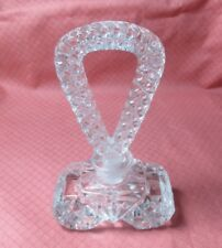 VINTAGE PRETTY PRESSED GLASS LOOP STOPPER PERFUME BOTTLE