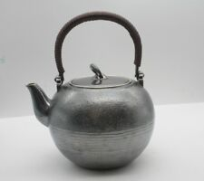 Solid 999 Sterling Silver Art Full Handmade in Block Teapot 553.3g Healthy