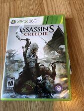 Assassin's Creed III 3 Xbox 360, 2012 Cib Game VC1