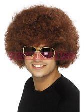 MEN'S brown Funky Divertenti Afro Parrucca Marouane Fellaini Man United Addio al Celibato Costume