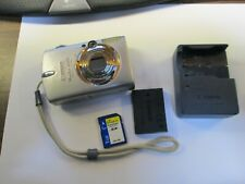 Canon PowerShot SD500 7.1MP Digital Camera - Silver Tested Works Good
