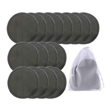 16pcs Reusable Bamboo Cotton Make up Remover Pads Washable Triple Layer FAC M3n7