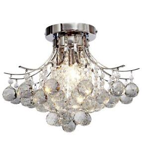 "Saint Mossi Chandelier Modern K9 Crystal Raindrop Chandelier Lighting 11""H 16""W"