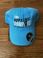 2018 JOHN HOPKINS LACROSSE PLAYER / TEAM ISSUED BIG TEN CHAMPIONSHIP HAT - NEW