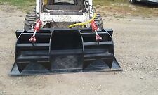 "New Bobcat 72"" HD Grapple Bucket 2 Cylinders - Bobcat Attachment"