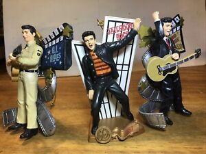 3 Pc Elvis Presley Movie CHRISTMAS ORNAMENTS King Creole GI Jail Graceland EPE