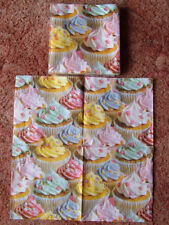 Pack of 20 CUPCAKE SWIRL NAPKINS / SERVIETTES. New & Sealed. 33cm x 33cm.