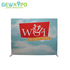 10ft*8ft Square Corners Tension Fabric Display With Single Side Printed Banner