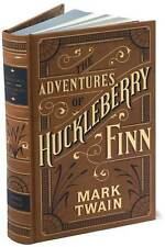 THE ADVENTURES OF HUCKLEBERRY FINN by Mark Twain ~ Brand New Bonded Leather ~
