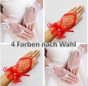 Netzhandschuhe Damen Handschuhen Nylon mit Schleife Fingerlos Glitzersteinen