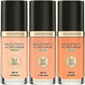 MAX FACTOR Facefinity 3-In-1 All Day Foundation Spf 20 -30ml *CHOOSE YOUR SHADE*