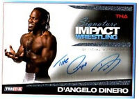 TNA Pope D'Angelo Dinero 2011 Signature Impact Silver Autograph Card SN 53 of 99