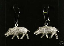 Pewter Boar/ Hog Dangle Earrings by Empire Pewter