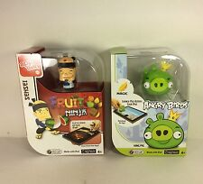 2 Mattel Apptivity iPad Game Accessory Angry Birds King Pig + Sensei Fruit Ninja