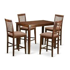 YAVN5-MAH-C 5-Piece dining height set-high top table and 4 bar stools with backs