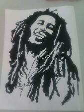 Bob Marley arte de pared calcomanía van pegatina / Coche Bonetes H: 30cm X W: 21,5 Cm