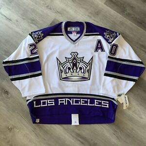 Authentic Luc Robitaille 56 Los Angeles Kings Reebok Jersey Crown New