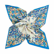 Women Twill Silk Scarf Shawl Square Wrap Elegant Butterfly Heart Jacquard Design