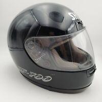 SHOEI RF 700 Motorcycle Helmet: Elite Series Full Face: Size M - Black