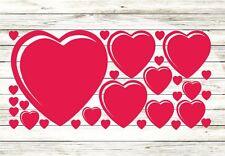 30x Herzen Aufkleber Wandtattoo Herz Liebe Love Folie Sticker Fensteraufkleber