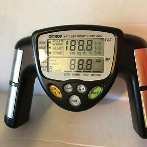 Omron HBF-306C Fat Loss Monitor Hand Held Body Fat Percent Analyzer BMI