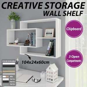 vidaXL Wall Shelves Chipboard Floating Storage Display Rack Multi Colours