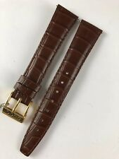 Nuovo Originale Gucci pelle Marrone Cinturino Orologio 18 mm Prodotto in Francia