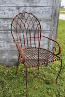 Wrought Iron Heavy Patio Chair Metal Seating Garden Furniture