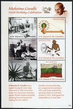 St Vincent & Grenadines Famous People Stamps 2019 Mnh Mahatma Gandhi 6v M/S