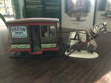 Department 56 Fresh Dairy & Baked Goods Horse/Cart - Used in Fair Condition
