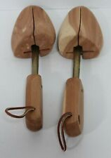 Rochester Shoe Tree Co 1 Set of Solid Wood Shoe Stretchers L leather Pulls EUC