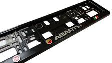 2 Stucke 1 Satz 3D Kennzeichenhalter Fiat 500 Abarth - mit 3D Chrom