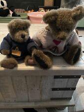 Boyds Bears Plush Logan Bear Qvc Retired & Winston Rare with Sweater