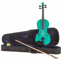 Koda Beginner Violin, 4/4 Size Fiddle, Comes with Case, Bow & Rosin - GREEN