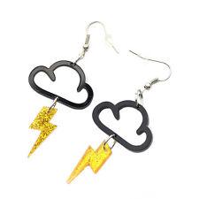 1 Pair Women Ear Decor Pendant Lightning Ear Hook Acrylic Fashion Cloud Earrings