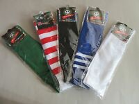 Mens Youth Women Long  Sport Socks Football Rugby Hockey assorted colours