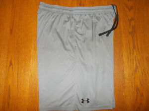 UNDER ARMOUR GRAY ATHLETIC SHORTS MENS X-LARGE EXCELLENT CONDITION