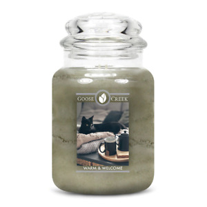 ☆☆WARM & WELCOME☆☆LARGE GOOSE CREEK CANDLE JAR 24 OZ.☆☆FREE SHIPPING