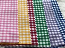 Soft Printed Felt Gingham Check Fabric White Sheet A4 Craft Bow Maker DIY+ Lot