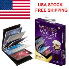 USA Original Wonder Wallet Amazing Slim RFID Wallets As Seen on TV Black Leather