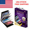 USA Original Wonder Wallet Amazing Slim RFID Wallets As Seen on TV Black Leather