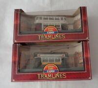 2x Vintage Diecast Corgi Tramlines LCC & National Garden Fest Limited ed. Boxed