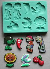 Silicone Mould ZOMBIES AND PLANTS Sugarcraft Cake Decorating Fondant / fimo mold