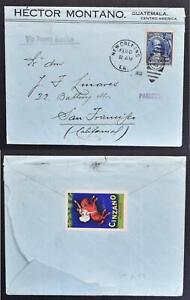 GUATEMALA to USA 1920 Cinzano Vermouth/Horse Label on PAQEBOT Ship Cover to SF !