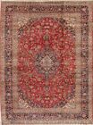 Vintage Traditional Floral Area Rug Hand-knotted Oriental Wool Carpet 10x13 ft
