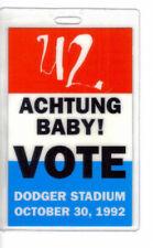 U2 Achtung Baby! Vote 1992 Laminated Backstage Pass Dodger Stadium
